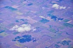 Powietrzny Cloudscape widok nad Midwest stanami na locie nad Kolorado, Kansas, Missouri, Illinois, Indiana, Ohio i Zachodnia Virg obrazy royalty free