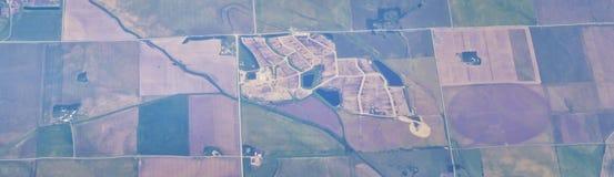 Powietrzny Cloudscape widok nad Midwest stanami na locie nad Kolorado, Kansas, Missouri, Illinois, Indiana, Ohio i Zachodnia Virg obrazy stock