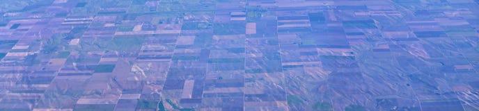 Powietrzny Cloudscape widok nad Midwest stanami na locie nad Kolorado, Kansas, Missouri, Illinois, Indiana, Ohio i Zachodnia Virg fotografia stock