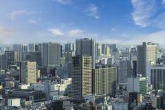 Powietrzny drapacza chmur widok budynek biurowy, śródmieście i citys Zdjęcia Royalty Free