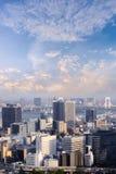 Powietrzny drapacza chmur widok budynek biurowy, śródmieście i citys Obrazy Royalty Free