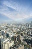 Powietrzny drapacza chmur widok budynek biurowy, śródmieście i citys Obraz Stock