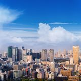 Powietrzny drapacza chmur widok budynek biurowy, śródmieście i citys Fotografia Stock