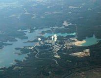 powietrzny elektrowni nuklearnej władzy widok Zdjęcie Stock