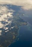Powietrzny fot Papua - nowa gwinea Fotografia Royalty Free