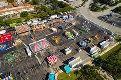Powietrzny fotografii Broward okręgu administracyjnego jarmark obrazy royalty free