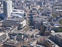 powietrzny Frankfurt widok zeil Zdjęcia Royalty Free