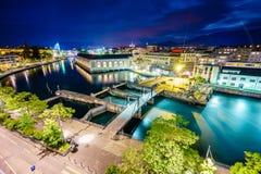 powietrzny Geneva Switzerland Obrazy Royalty Free