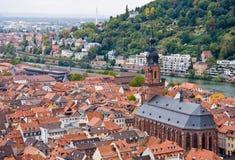 powietrzny Germany Heidelberg stary grodzki widok obrazy stock
