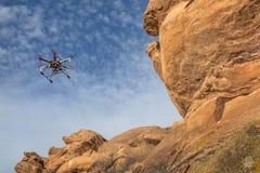 Powietrzny hexacopter truteń Zdjęcie Stock