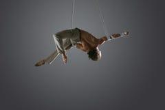 Powietrzny jedwabniczy męski wykonawca Fotografia Stock