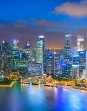 Powietrzny linii horyzontu Singapur śródmieścia pejzaż miejski zdjęcia stock