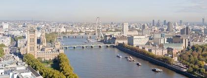 powietrzny London panoramy widok Zdjęcie Stock