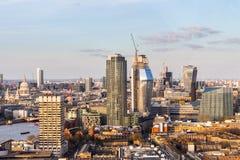 powietrzny London panoramy widok Widok w kierunku domów Parliamen Obrazy Stock