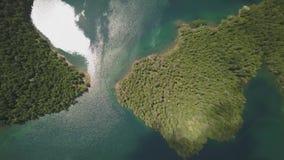 Powietrzny materiał filmowy Czarny jezioro w parku narodowym Durmitor zbiory wideo