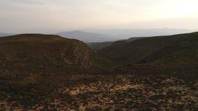 Powietrzny materiał filmowy Karoo w Południowa Afryka zbiory