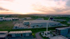 Powietrzny materiał filmowy Sheffield Universitys AMRC, South Yorkshire, UK zbiory wideo