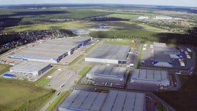 Powietrzny materiał filmowy wielki przemysłowy kompleks zdjęcie wideo