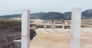 Powietrzny materiał filmowy wielkiej skala autostrady projekt budowlany zbiory
