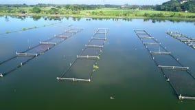 Powietrzny materiał filmowy wodna jeziorna wioska zbiory