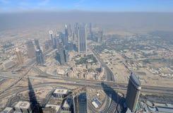 powietrzny miasta Dubai widok fotografia stock