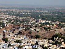 powietrzny miasta jodpur Rajasthan widok Zdjęcie Stock