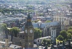 powietrzny miasta London widok Zdjęcia Stock