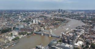 powietrzny miasta London widok Fotografia Royalty Free
