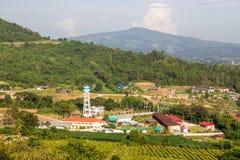 powietrzny miasteczka indyka widok Fotografia Royalty Free