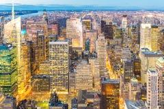 powietrzny miasto nowy York Fotografia Royalty Free