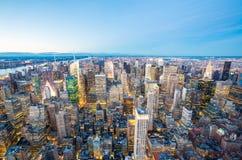 powietrzny miasto nowy York Obraz Stock