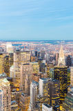 powietrzny miasto nowy York Obraz Royalty Free