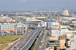 Powietrzny miastowy linia horyzontu widok Krayot, Izrael obraz stock