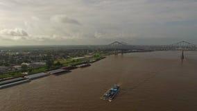 Powietrzny Mississippi Nowy Orlean zbiory wideo