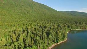 Powietrzny Montana lodowa park narodowy zbiory wideo