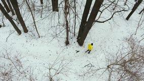 Powietrzny niecka strza? m?ski sportowiec w ? zdjęcie wideo