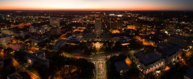 Powietrzny nocy panoramy Tallahassee stanu Capitol Floryda zdjęcia royalty free
