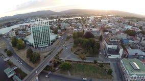 Powietrzny obrazek miasto w Chile fotografia royalty free