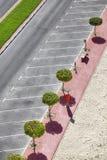 Powietrzny obrazek pusty parking Fotografia Stock