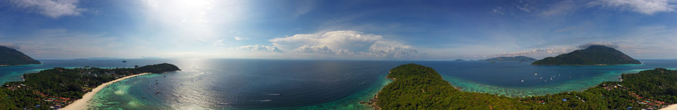 Powietrzny panorama widok na Ko Lipe wyspie Obrazy Royalty Free