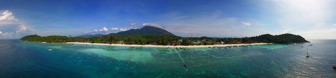 Powietrzny panorama widok na Ko Lipe wyspie Fotografia Stock