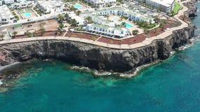 Powietrzny panoramiczny flyover Costa blanca zbiory