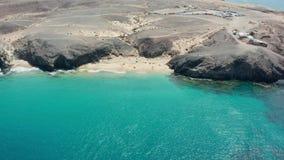 Powietrzny panoramiczny flyover Costa blanca zdjęcie wideo