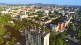 Powietrzny panoramiczny ruch mieszkanie okręg od prawej do lewej 4K zbiory