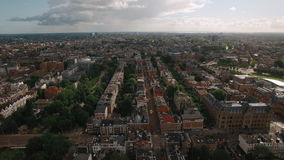 Powietrzny panoramiczny widok Amsterdam, holandie zbiory wideo