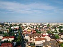 Powietrzny Panoramiczny widok Bucharest miasto zdjęcia stock