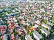 Powietrzny Panoramiczny widok Bucharest miasto obraz royalty free