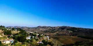 Powietrzny panoramiczny widok Mbabane, Swaziland Zdjęcie Royalty Free