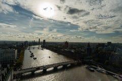Powietrzny panoramiczny widok Zachodni Londyn w późnym październiku Obraz Royalty Free