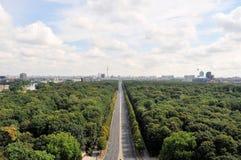 Powietrzny pejzaż miejski Berlin z Tiergarten parkiem Zdjęcia Stock
